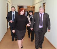 C рабочим визитом Унинский район посетил председатель Законодательного собрания Кировской области А. М. Ивонин.