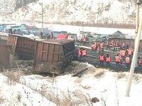 Возгорание железнодорожного состава в городе Кирове